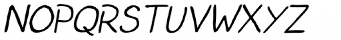 Left Hand Path Thin slant Font UPPERCASE
