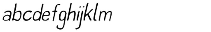 Left Hand Path Thin slant Font LOWERCASE