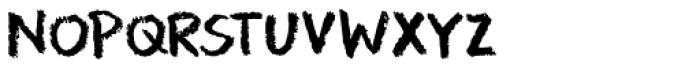 Leftover Crayon Font UPPERCASE
