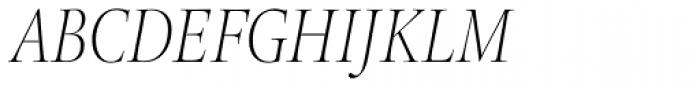 Legacy Serif Pro ExtraLight Condensed Italic Font UPPERCASE