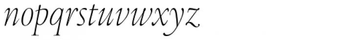Legacy Serif Pro ExtraLight Condensed Italic Font LOWERCASE