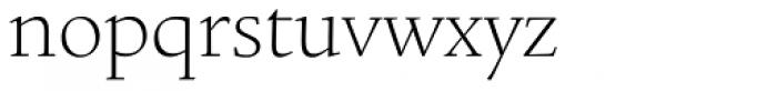 Legacy Square Serif Std ExtraLight Font LOWERCASE