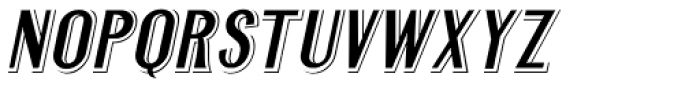 Legal Eagle Oblique JNL Font UPPERCASE