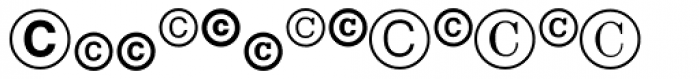 Legal Trademarks Font UPPERCASE