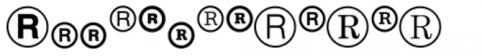 Legal Trademarks Font LOWERCASE