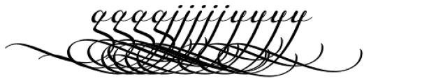 Legendaria Swashes 2 Font LOWERCASE
