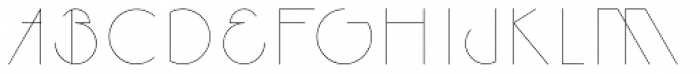 Legere Thin Font UPPERCASE