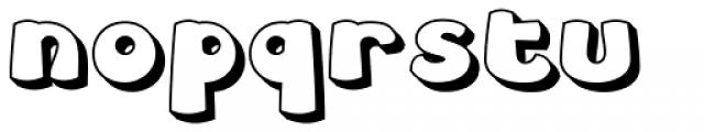 Leibix Shadowed Font LOWERCASE