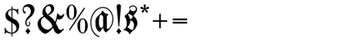 Leibniz Fraktur Font OTHER CHARS