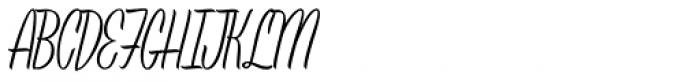 Leisure Script Font UPPERCASE