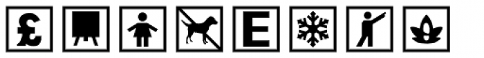 Leisure Tourism Icons DT 1 Font LOWERCASE