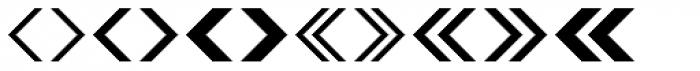 Leitura Symbols Arrows Font UPPERCASE