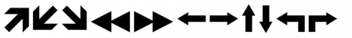 Leitura Symbols Arrows Font LOWERCASE