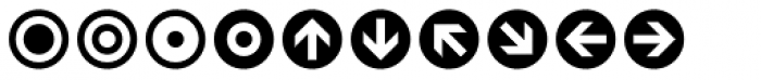 Leitura Symbols Circles Font LOWERCASE