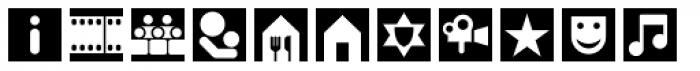 Leitura Symbols Dingbats Font UPPERCASE