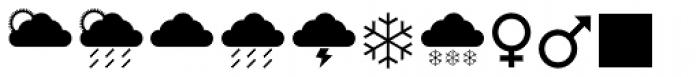 Leitura Symbols Dingbats Font LOWERCASE