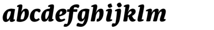 Leksa Black Italic Font LOWERCASE