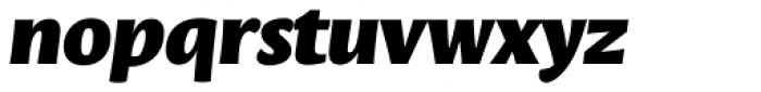 Leksa Sans Black Italic Font LOWERCASE
