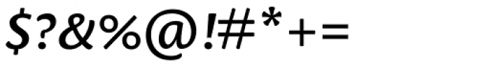 Leksa Sans DemiBold Italic Font OTHER CHARS