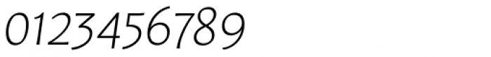 Leksa Sans ExtraLight Italic Font OTHER CHARS