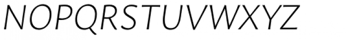 Leksa Sans ExtraLight Italic Font UPPERCASE