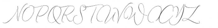Lemans Pen Script Font UPPERCASE