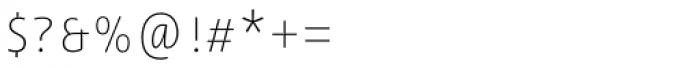 Lemon Sans Rounded Cond Uni Thin Font OTHER CHARS