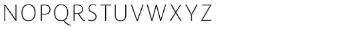 Lemon Sans Rounded Cond Uni Thin Font UPPERCASE