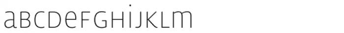 Lemon Sans Rounded Cond Uni Thin Font LOWERCASE