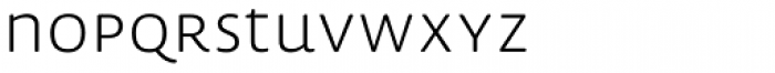 Lemon Sans Rounded Uni Light Font LOWERCASE