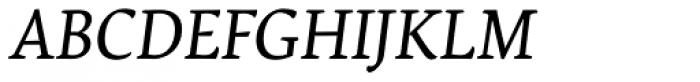 Lemon Serif Italic Font UPPERCASE