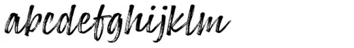Lemonado Script Textured Italic Font LOWERCASE