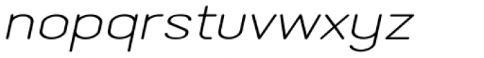 Lemonite Expanded Italic Font LOWERCASE