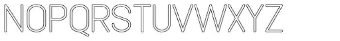Lemonite Hollow Regular Font UPPERCASE