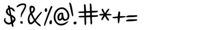 Lennart Handwriting Font OTHER CHARS