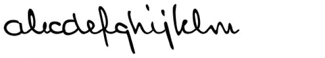 Lennart Handwriting Font LOWERCASE