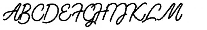 Lento Rough Font UPPERCASE