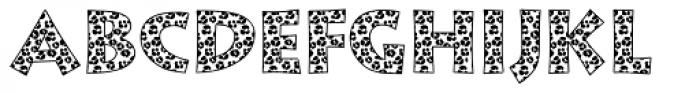 Leopard Skin Aarde Black Font UPPERCASE