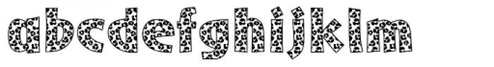 Leopard Skin Aarde Black Font LOWERCASE