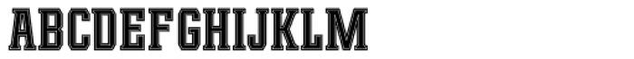 Leophard Bold Inline Font UPPERCASE