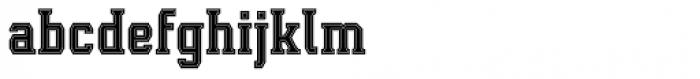 Leophard Bold Inline Font LOWERCASE