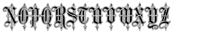 Leothric Lined Medium Font UPPERCASE