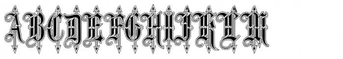 Leothric Lined Medium Font LOWERCASE