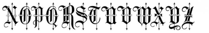 Leothric Medium Font UPPERCASE