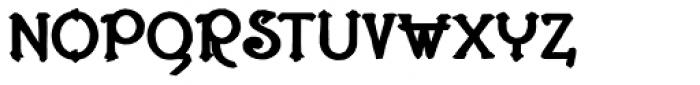 Lestatic Carved Bold Font UPPERCASE