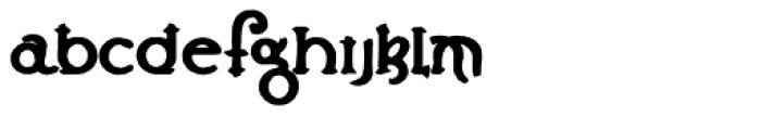 Lestatic Carved Bold Font LOWERCASE