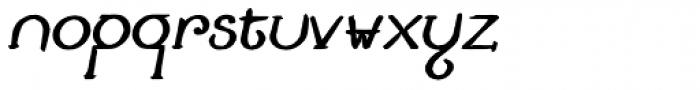 Lestatic Carved Oblique Font LOWERCASE