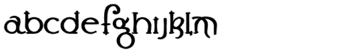 Lestatic Carved Font LOWERCASE