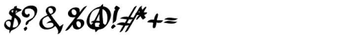 Lestatic Lashed Oblique Font OTHER CHARS