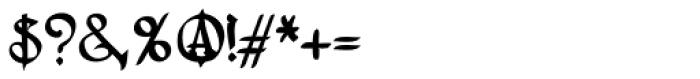 Lestatic Lashed Font OTHER CHARS